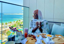 DJ Cuppy while holidaying in Dubai