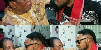 Singer Flavour and Dad