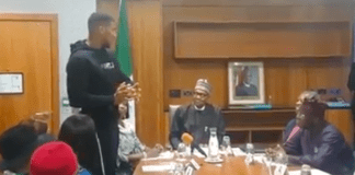 Anthony Joshua and President Buhari