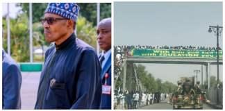 President Muhammadu Buhari and Borno residents