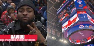Davido at the NBA game