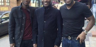 Tobi Bakre, his father and brother
