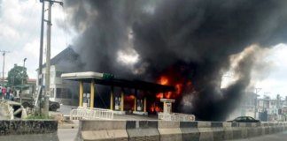 NNPC Ogba Station on fire