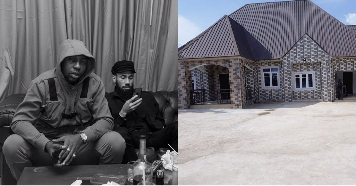 Phynos Official DJ, Jmasta Builds New House For His Parents (Photo)