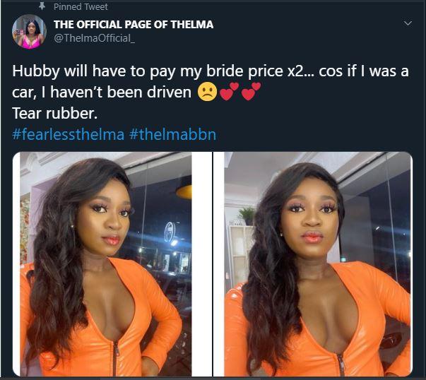 BBNaija's Thelma