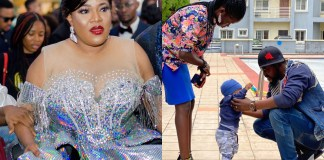 Toyin Abraham and her family