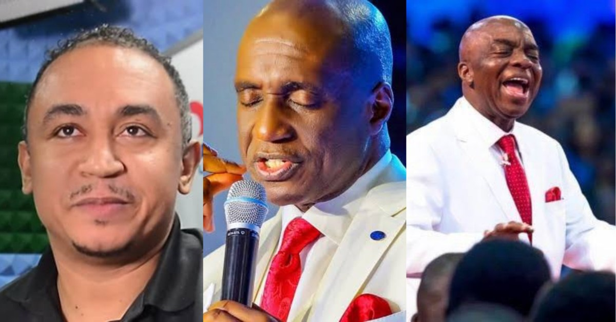 He is one of the reasons I stopped going to church' – Nigerians react to  video of Pastor David Ibiyeomie attacking Daddy Freeze for 'insulting' Bishop  Oyedepo - Information Nigeria