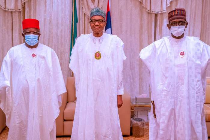 4. President Muhammadu Buhari Thursday night received Ebonyi State Governor, David Umahi, shortly after he defected from the Peoples Democratic Party (PDP) to the ruling All Progresives Congress (APC).