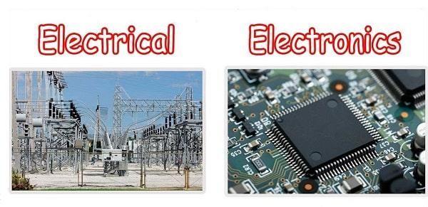 Difference between Electric and Electronic Devices, Basic Electronic Terms