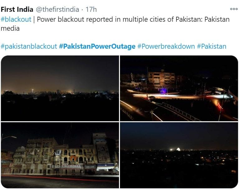 Cities Plunged Into Darkness For Hours: Pakistanpower Outage