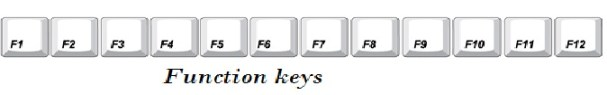 Function keys information for kids