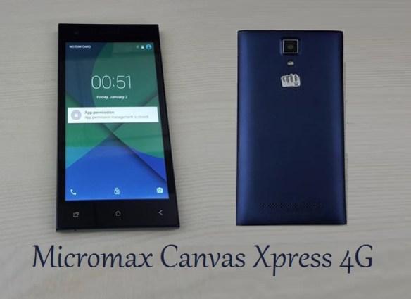 Micromax Canvas Xpress 4G phone