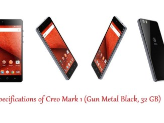 Specifications of Creo Mark 1 (Gun Metal Black, 32 GB) 00