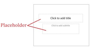 Microsoft Powerpoint Placeholder