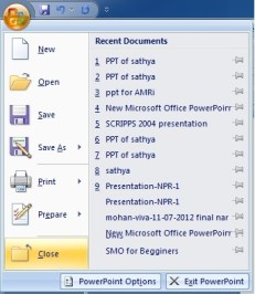Microsoft Powerpoint Closing a Presentation