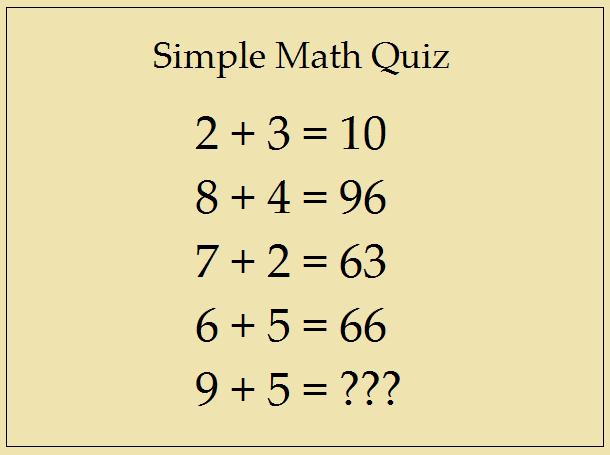 Simple Math Quiz | Answer This Simple Question | InforamtionQ.com
