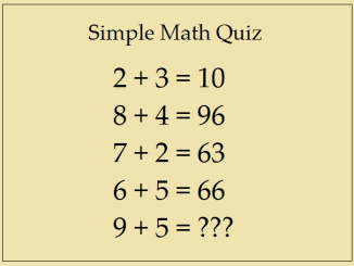 Simple Math Quiz - Answer This Simple Question