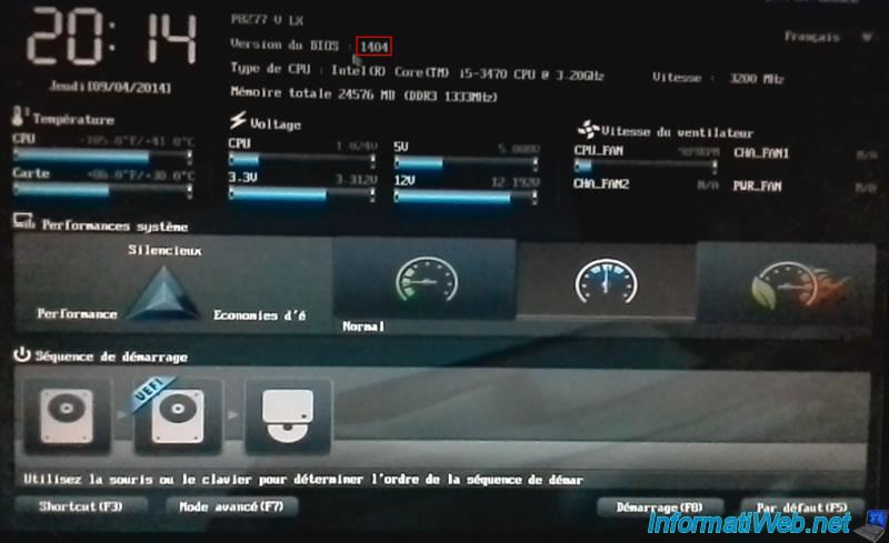 Flash (update) the BIOS of an Asus motherboard with EZ Flash 2 - BIOS - InformatiWeb