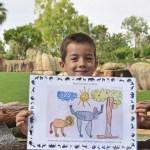El dibujo de un niño de 5 años ilustrará un pase infantil de Bioparc