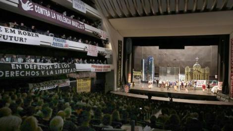 El Palau de Les Arts durante los ensayos y representación de La Flauta Mágica/Img GVA