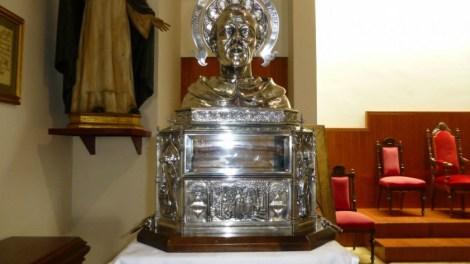 Reliquia de San Vicente Ferrer en el Colegio Imperial de Niños Huérfanos, Valencia.