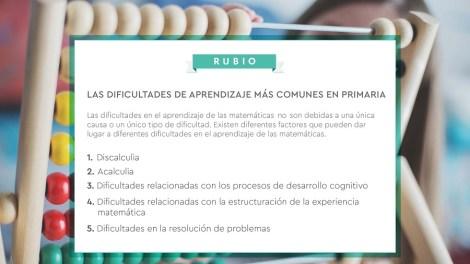 Dificultades de aprendizaje más comunes en Primaria/Img. RUBIO