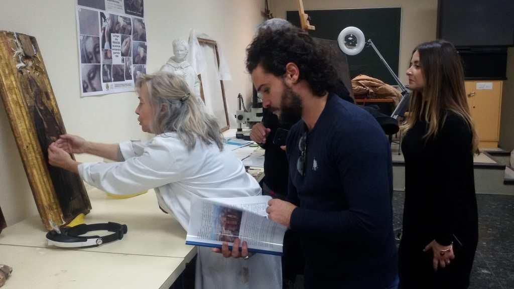 Los investigadores de Nápoles en El Observatorio de la Universidad/Img. informaValencia.com