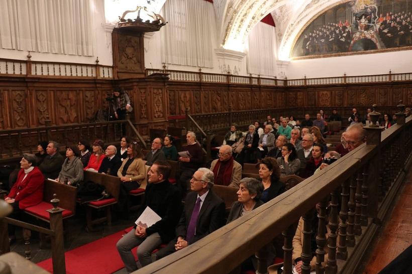 Teresa de Jesús en la segunda fila entre el público asistente al fallo del Premio/Fund. Fernando Rielo