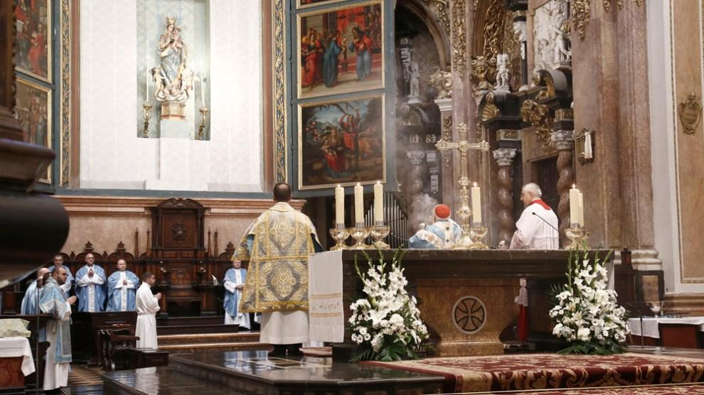 El Cardenal Cañizares proclama a la Inmaculada patrona de la UCV en su XVI aniversario/Img. . Peiró
