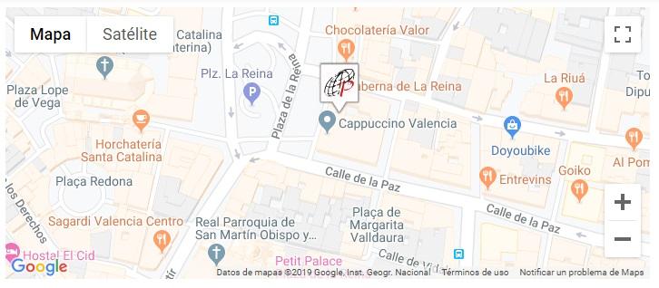 Localización de a librería Paulinas en Valencia/informaValencia.com