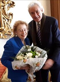La princesa Elettra Marconi con Luis del Olmo/Img.EM