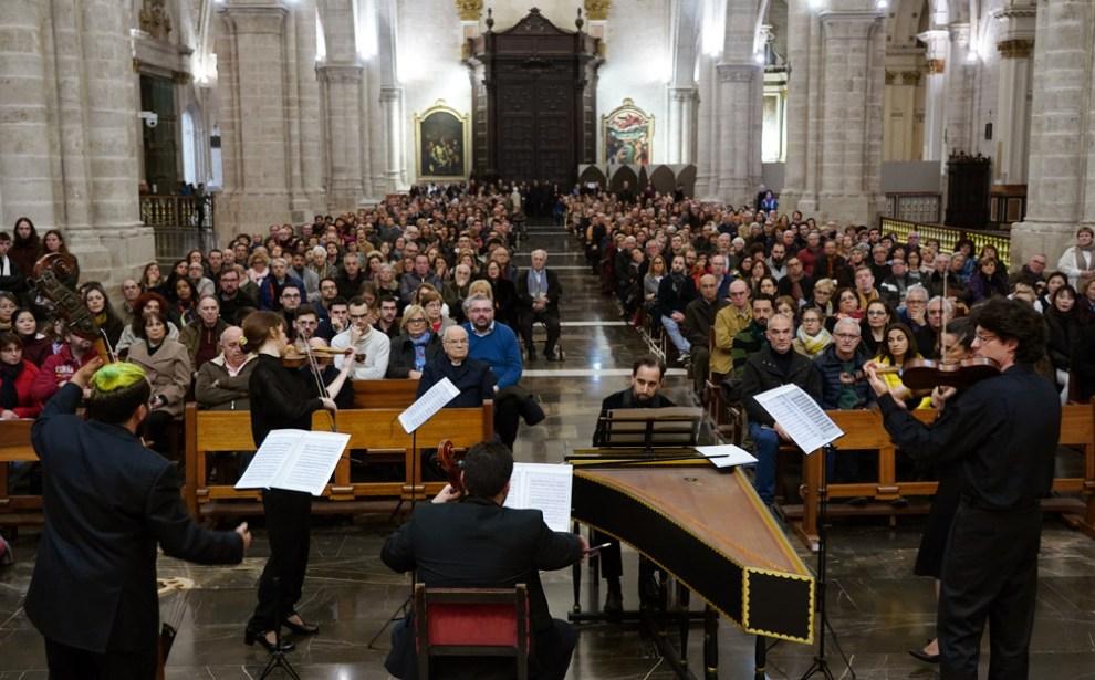 El concierto congregó a um millar de personas en la Catedral de Valencia/Img. A.Saiz