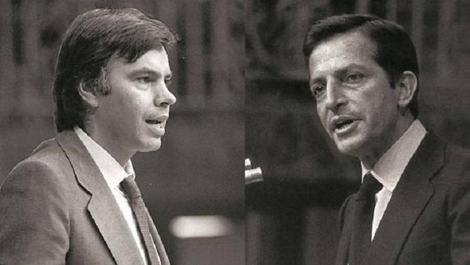 Felipe González (I) y Adolfo Suárez/Img. archivo iV.com