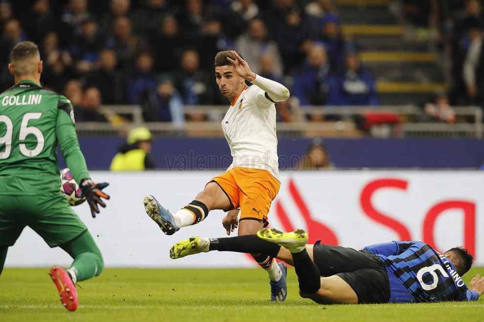 Ferran fue otra vez y con diferencia, lo mejor del Valencia en San Siro./VCF