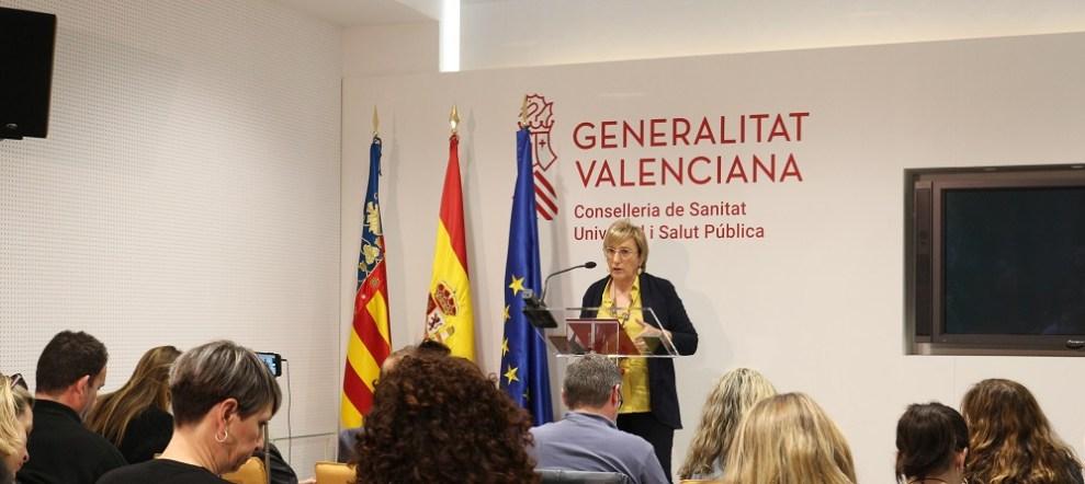 La consellera Ana Barceló informando de los datos de este jueves/GVA