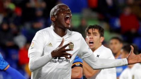 Diakhaby dió mucho miedo esta noche en Mestalla./VCF