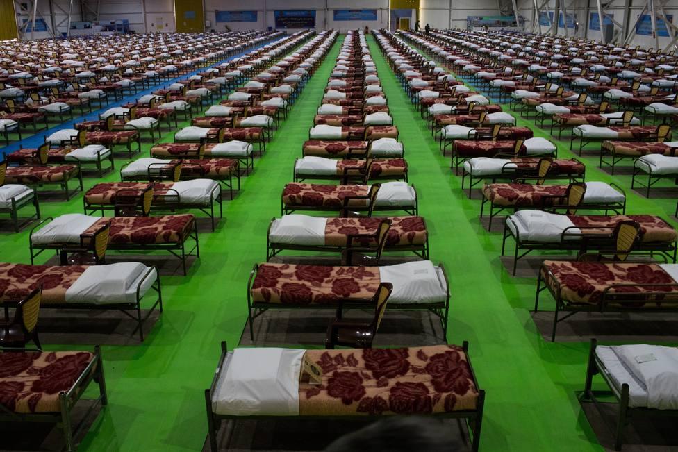Hospital de campaña en Ifema, Madrid./Img.Cope