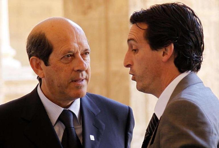 Manuel Llorente y Unai Emery, en 2009/Img. ciberché