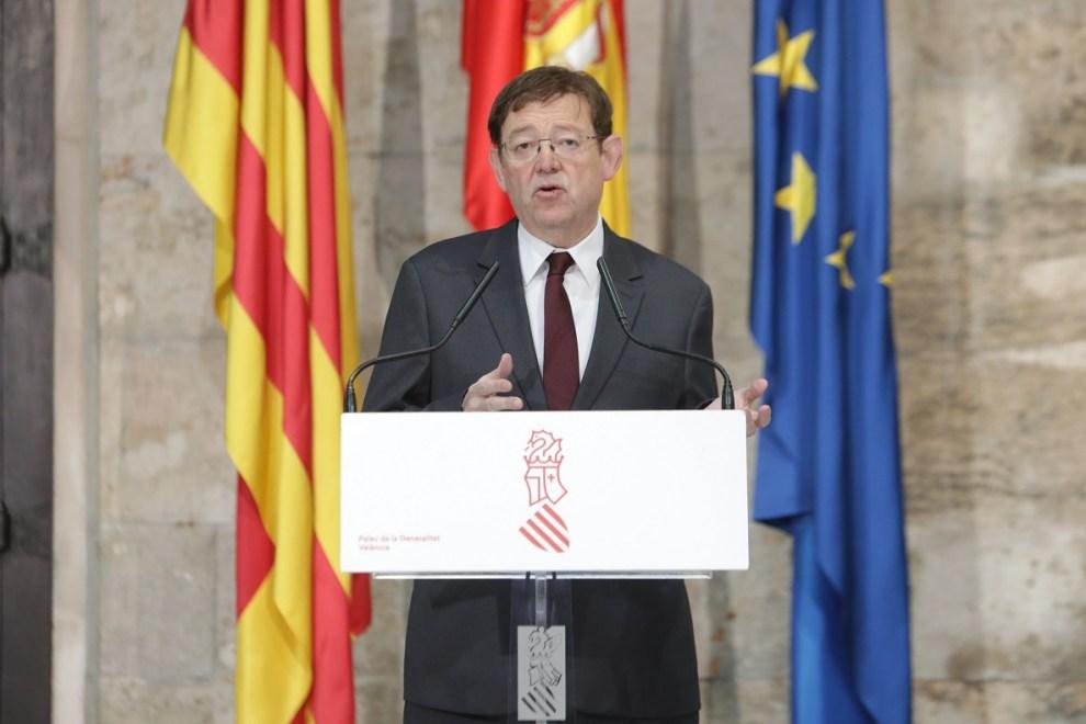 Ximo Puig durante su comparecencia de este jueves 26 de marzo/GVA