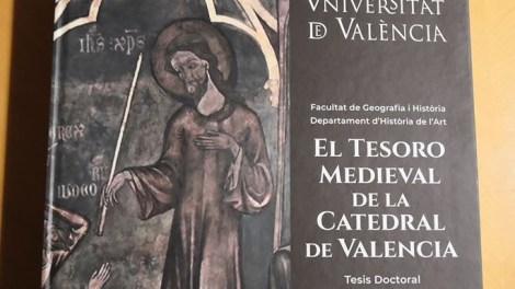 """Portada de la tesis doctoral """"El tesoro medieval de la Catedral de Valencia""""/AVAN"""