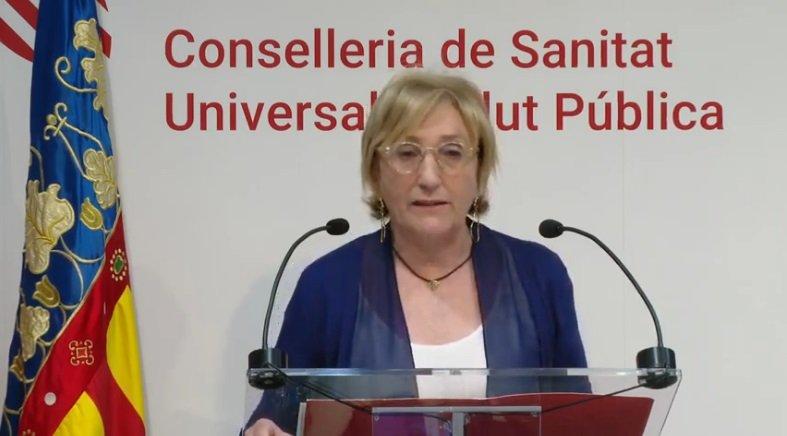 La consellera Ana Barceló durante la segunda comparecencia de la semana/informaValencia.com