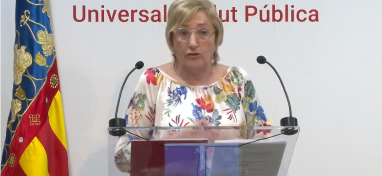 La consellera Ana Barceló durante su comparecencia ante la prensa/informaValenci.com