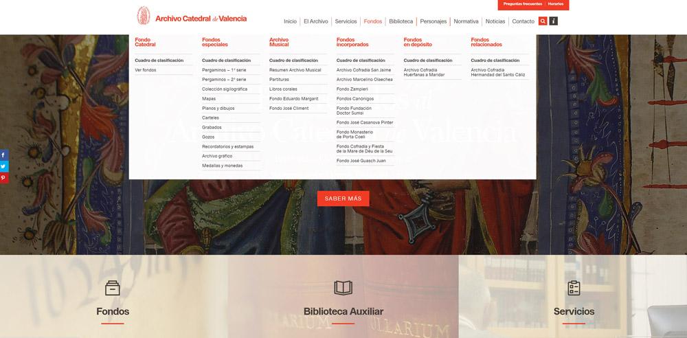 Nuevo sitio web del Archivo de la Catedral de Valencia/informaValencia.com
