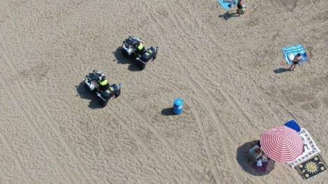 La Policía Local de Valencia vigila con drones y quads el uso de las mascarillas/PLV