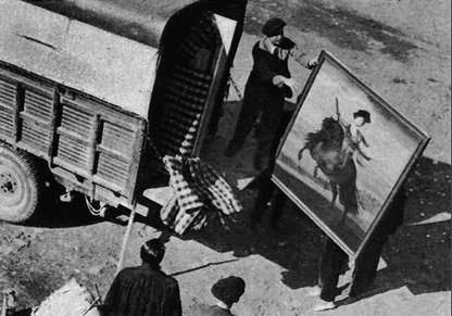 Transporte de obras del museo ambulante. Patronato de Misiones Pedagógicas, 1931./Imágenes de A.Marcharowski