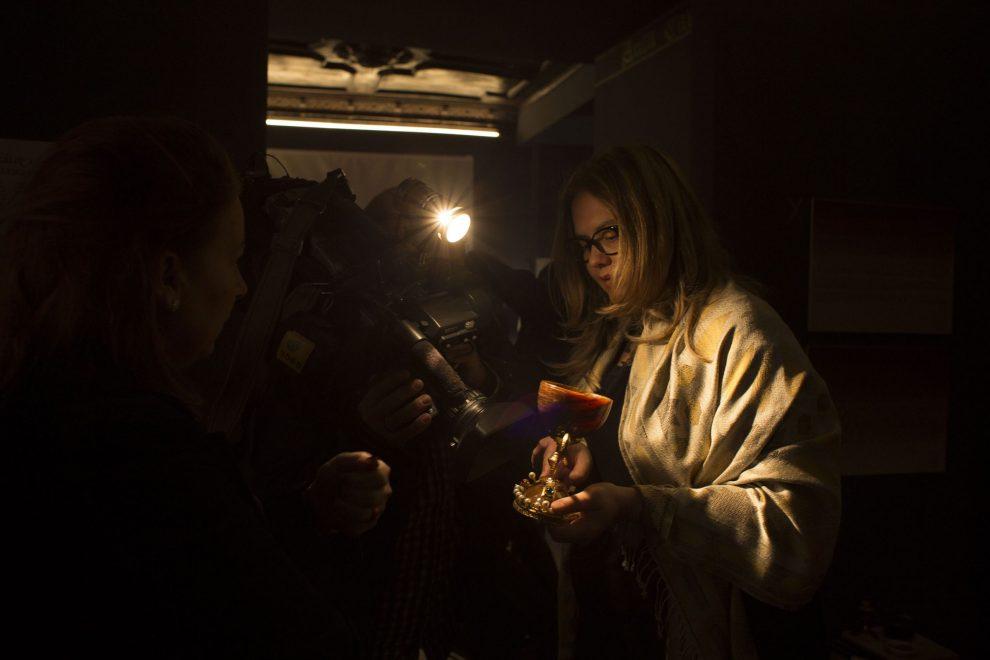 La Doctora mafé durante el rodaje del documental de ZDF/Guillermo Aguilar