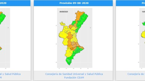 Sanidad activa la alerta sanitaria por calor alto en 14 comarcas la Comunidad Valenciana/CEAM/informaValencia.com