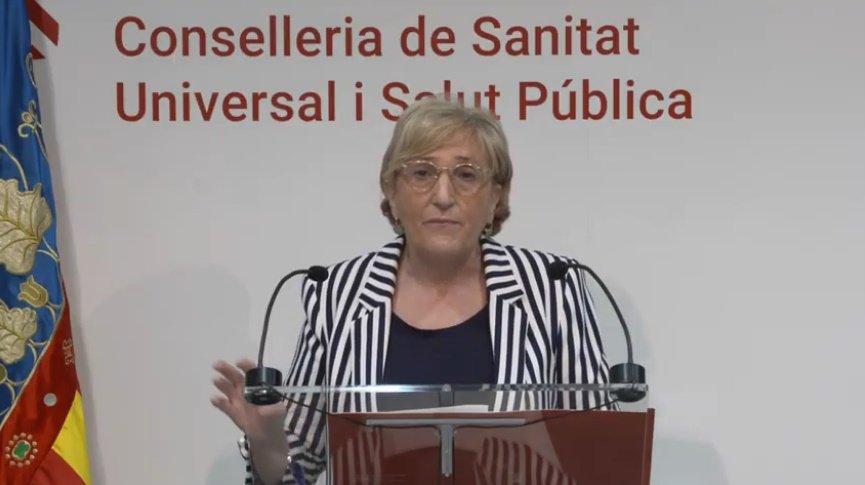La consellera Ana Barceló durante su comparecencia de este jueves - informaValencia.com