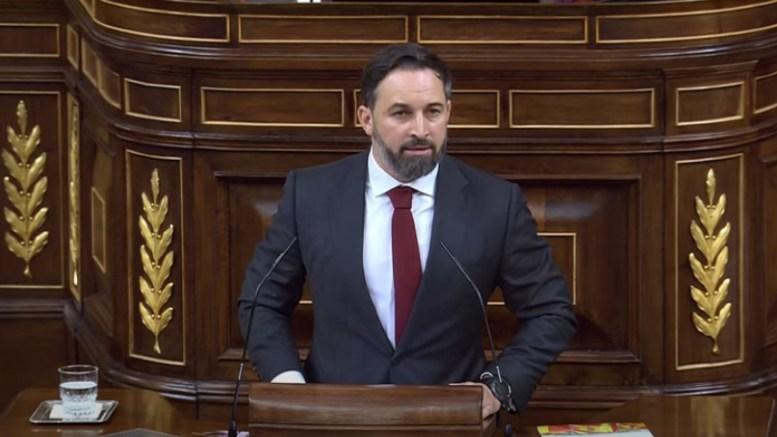 Santiago Abascal durante su discurso en la moción de censura a Pedro Sánchez. Img. informaValencia.com