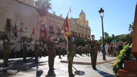 Izado de la Bandera Nacional y Homenaje a los Caídos en Capitanía. CGTAD